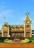 Disneyland ingang Hongkong royalty-vrije stock afbeeldingen