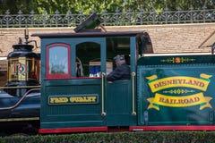 Disneyland järnväg royaltyfria foton