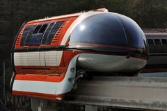 Disneyland Monorail. A Disneyland Monorail running through the park Royalty Free Stock Images