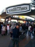 Disneyland odwiedzający Zdjęcia Royalty Free