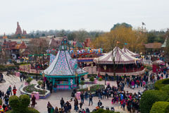 Disneyland panorama Royalty Free Stock Images