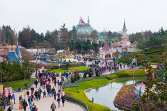 Disneyland panorama. In Paris. A magnificent place Royalty Free Stock Photography
