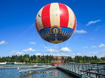 Disneyland PanoraMagique Paryski balon Zdjęcia Royalty Free