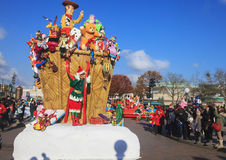 Disneyland - parade in Christmas Time Royalty Free Stock Image