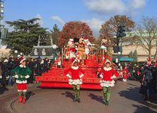 Disneyland - parade show in Christmas Time Royalty Free Stock Photography
