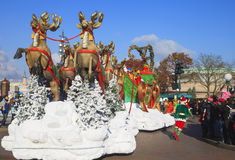 Disneyland - parata nel tempo di Natale, Parigi Fotografia Stock