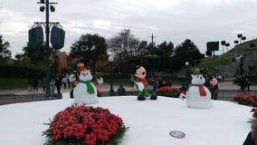 Disneyland Parijs Kerstmisbeeldhouwwerken Royalty-vrije Stock Foto