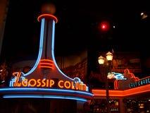 Disneyland Parijs Lit van de Avondopslag stock foto