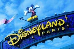 Disneyland Parijs Straatscène stock afbeeldingen