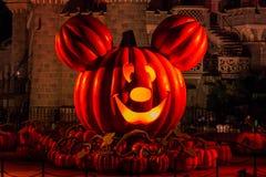 Disneyland Parijs tijdens Halloween-vieringen Royalty-vrije Stock Foto