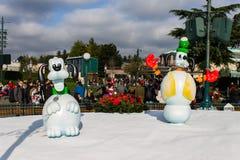 Disneyland Parijs tijdens Kerstmisperiode royalty-vrije stock fotografie