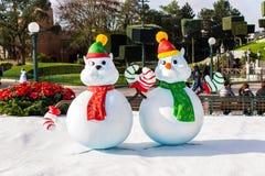 Disneyland Parijs tijdens Kerstmisvieringen royalty-vrije stock fotografie