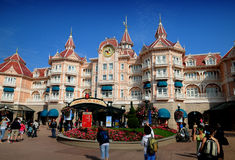 Disneyland Paris. Entrance to the park royalty free stock photos