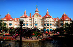 Disneyland Paris. Entrance to the park stock photos