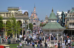 Disneyland Paris. Main Street of Disneyland Resort Paris Royalty Free Stock Photography