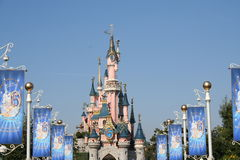 Disneyland Paris. Disneyland castle from Paris city Stock Photo