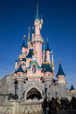 Disneyland Paris Castle. Marne-la-Vallée, Paris, France, 18 February 2012 - Disneyland Paris Castle. Disneyland Paris is a holiday and recreation resort in stock images