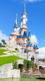 Disneyland Paris Castle. Eurodisney castle during the 2016 spring Stock Images