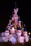 Disneyland Paris castle at night Stock Images
