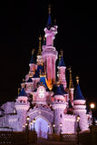 Disneyland Paris castle at night Stock Images
