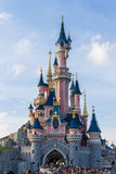 Disneyland Paris Castle in a sunny day Stock Images