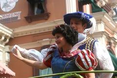 Disneyland Paris characters on parade Stock Image