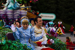 Disneyland Paris characters on parade Royalty Free Stock Image