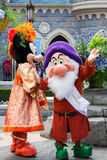 Disneyland Paris characters during a show Royalty Free Stock Photos