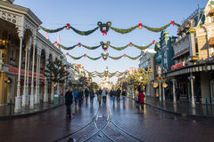 Disneyland Paris during Christmas celebrations Royalty Free Stock Images