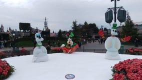 Disneyland Paris Christmas sculptures stock image