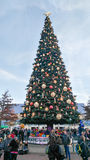 DISNEYLAND PARIS Christmas tree Stock Images