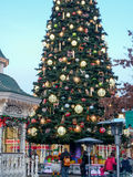 DISNEYLAND PARIS Christmas tree Stock Image