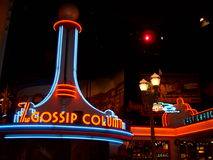 Disneyland Paris Night Lights Stock Photo