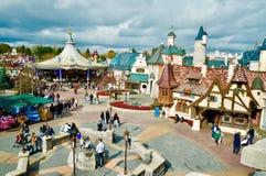 Disneyland Paris Fantasyland område royaltyfri foto
