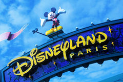 Disneyland Paris gataplats arkivbilder