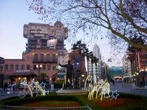 DISNEYLAND PARIS huvudsaklig gata Arkivbild