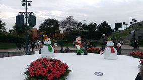 Disneyland Paris julskulpturer Royaltyfri Foto