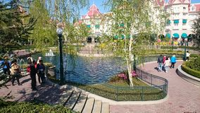 Disneyland. In Paris. Disneyland . lake water . trees Royalty Free Stock Photos