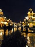Disneyland Paris, mars 2012, huvudgata USA på n Royaltyfri Foto