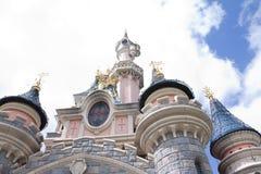 Disneyland, Paris - 14 May 2016: Disneyland Park in Paris, France. Sleeping Beauty Castle Stock Photo