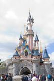 Disneyland, Paris - 14 May 2016: Disneyland Park in Paris, France. Sleeping Beauty Castle Royalty Free Stock Photos