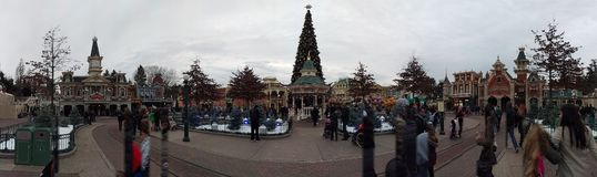 Disneyland Paris panorama Royaltyfria Foton
