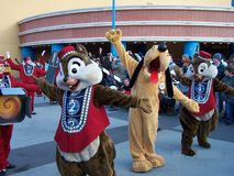 Disneyland Paris Parade Pluto Chip n Dale Stock Photography