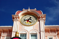 Disneyland Paris Park, Mickey mouse clock tower Stock Photos