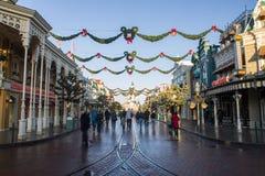 Disneyland Paris pendant les célébrations de Noël Images libres de droits