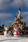Disneyland Paris pendant les célébrations de Noël Photographie stock