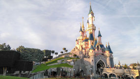 DISNEYLAND PARIS prinsessa Castle royaltyfri fotografi