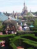 Disneyland Paris sikt royaltyfria foton