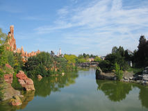 Disneyland Paris. Territory of child's entertaining complex of attractions Royalty Free Stock Photos