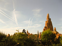 Disneyland Paris. Territory of child's entertaining complex of attractions Stock Photos